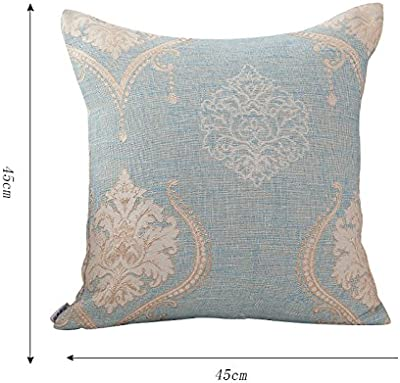 Amazon.com: AngelDOU Cotton Linen Square Throw Pillow,Nature ...