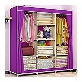 Closet plegable Armario de dormitorio Muebles de tela Armario Ropa portátil Closet Organizador de almacenamiento con...