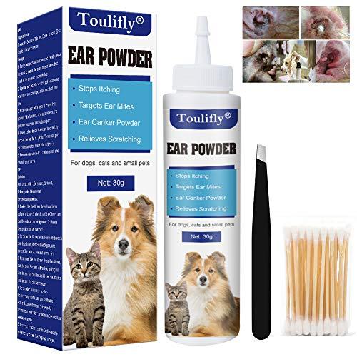 Limpiador de Oídos de Perros, Gatos y Mascotas - Rápido Alivio para la picazón causada por los ácaros del oído. Detener sacudidas de Cabeza, Cera y Oído Olor