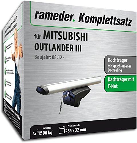 Rameder Set, Dachträger Pick-Up kompatibel für Mitsubishi Outlander III (111287-10624-27)