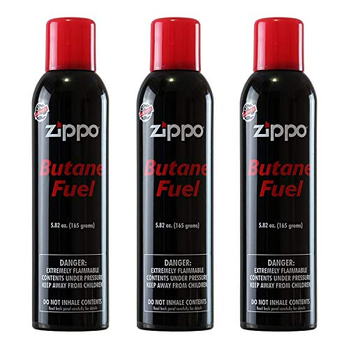 Zippo Butane Fuel 5.82 Oz / 165 Grams, Pack of 3