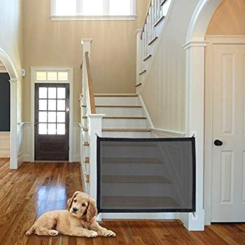 Magic Gate for Dogs, Portable Folding Safe Enclosure Easy Install Anywhere (Baby Safety Fence,Pet Safety Enclosure) -100x75cm