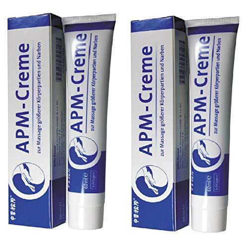 APM Creme 60ml - Doppelpack zur Pflege/Massage von Narben (2x)