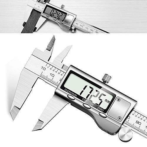 Calibro Digitale - JUNING Caliper metrico da 150mm elettronico in acciaio inossidabile, misurazione accurata e veloce, facile lettura with LCD Vernier