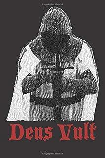 Deus Vult Crusader: Blank Lined Notebook, Journal or Diary