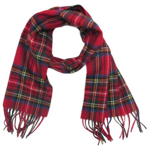 "Ingles Buchan - Écharpe en laine pour homme - tartan/carreaux - Royal Stewart - 142 cm x 30,5 cm (56"" x 12"")"
