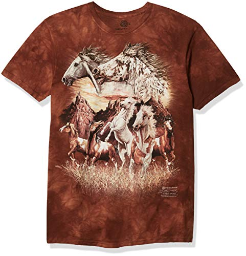 T-Shirt Find 15 Horses braun | M