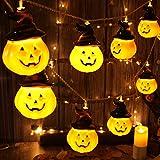 ハロウィン 装飾 飾り パンプキンランタン カボチャライト 電池式 20球 5m 魔女ハット付き パンプキンライト DIY飾り物 雰囲気作り ハロウィン電飾