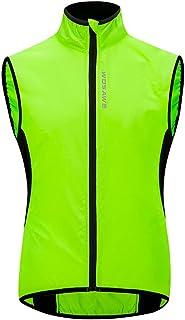 WOSAWE Fietsvest uniseks lichte winddichte MTB-Gilets met reflecterende strips voor hardlopen, fietsen, motorfietsen, paar...