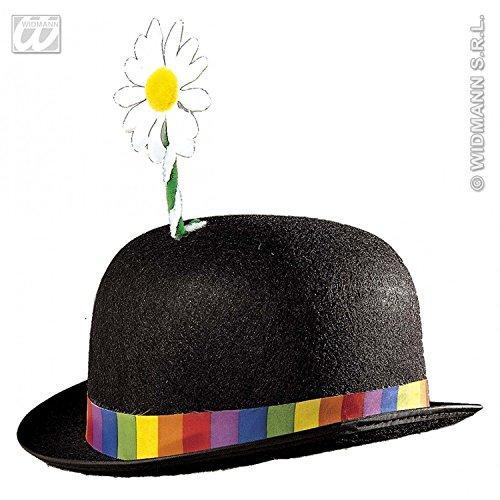 Widmann Clown Bowler mit Blume 3 Farben Bowler Hüte Kappen & Kopfbedeckung für Kostüme Zubehör