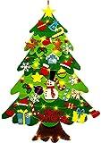 Ibello Árbol de Navidad de Fieltro Árbol Navideña DIY con 50 Led y 32 Adornos Juguete d...