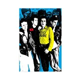 Rock Music The Clash Leinwand-Poster, Schlafzimmer,