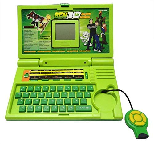 Urban Creation 20 Activities Ben 10 English Laptop for Kids/ Notebook Toy for Kids