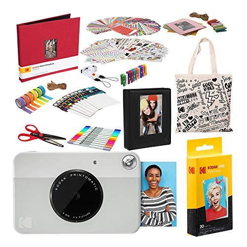 Kodak PRINTOMATIC Sofortbildkamera (Grau) Deluxe-Sammelalbum-Bundle