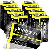 Original kraftmax Xtreme 9V-Block Hochleistungs- Batterie / Universell einsetzbar mit extrem hoher Energiedichte - Super Longlife - für sehr lange Lebensdauer z.B. ideal für die industrielle oder professionelle Nutzung Sehr gutes Preis- Leistungsverh...