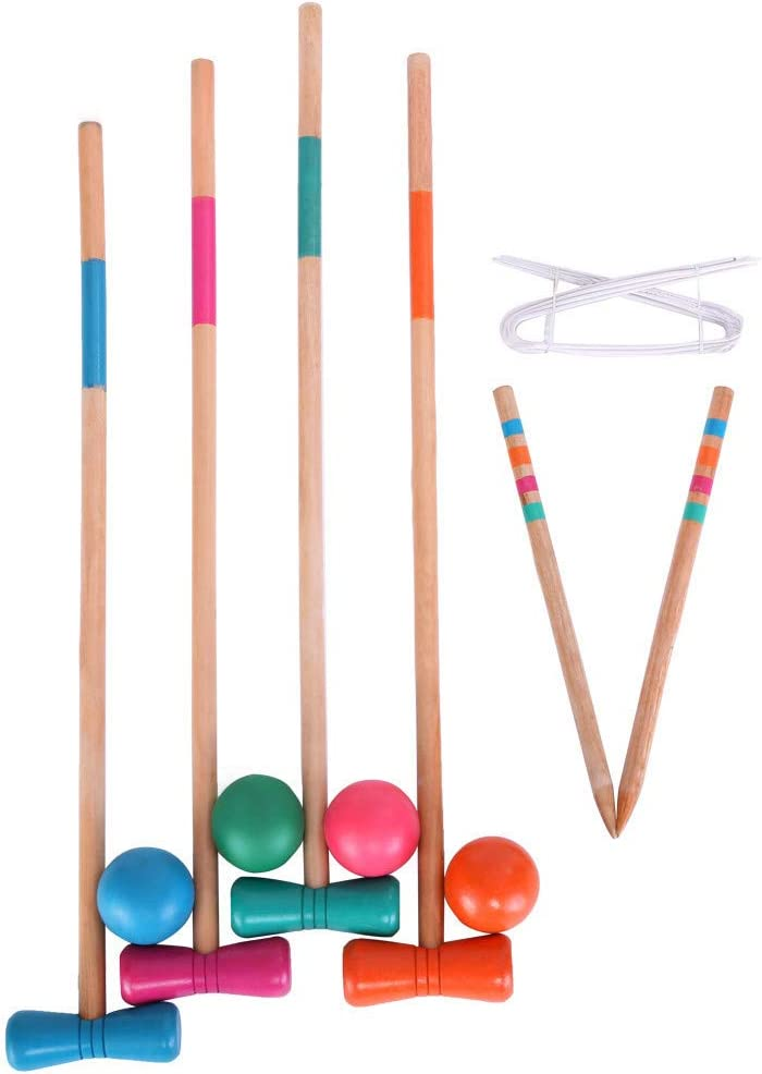 Wooden Croquet Now on sale Set for Outoor Children Game Pl We OFFer at cheap prices Ball