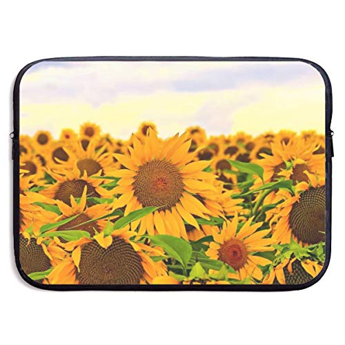 Laptop Case Sunflowers Laptop Sleeve Protective Case Water-Resistant Neoprene Briefcase 15 Inch