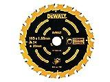 Dewalt DT10624-QZ Lame de Scie Circulaire 165 X 20 X 24T, Jaune/Noir