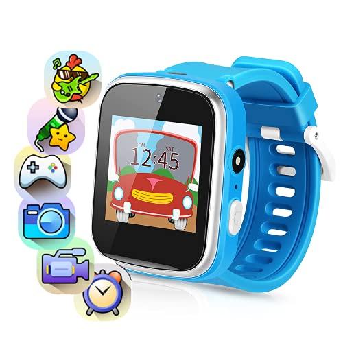Smartwatch Kinder, Musik Kinderuhr mit 2 Kameras, Kinder Smartwatch mit 9 Spiel Schrittzähler Touchscreen Taschenlampe, Kids Smartwatch für 3-15 Jahre alt Jungen Mädchen Geburtstags Geschenke