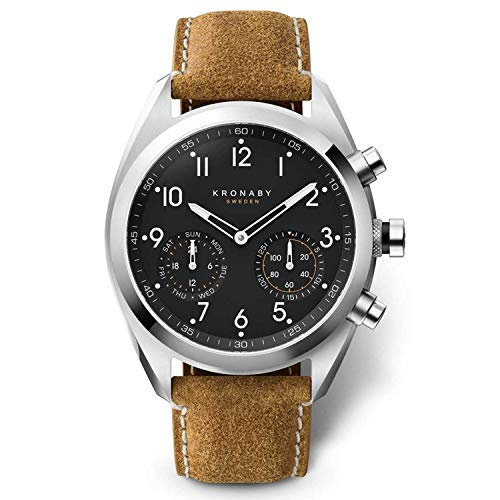 Kronaby apex Unisex Uhr analog Quarzwerk mit Leder Armband S3112/1
