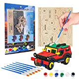 YISUYA Wooden 3D Puzzle for Kids Ages 8-10 Model Cars Kits to Paint and Build Educational Toys Wooden Puzzle for Kids Ages 5-12