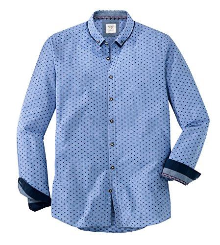 OLYMP Herren Body Popeline Shapewear Blau M
