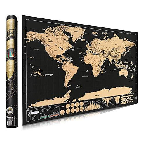 Póster mapa mundo rascar - Mapas Bluesees Maps International