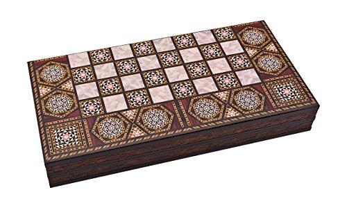 Master Games T68-Backgammon Elegance-Tavla-Big Size 50,5cm x 25,5cm x 8,00cm