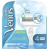 Gillette Venus Smooth Sensitive Women's Razor Blades With 4 Refills