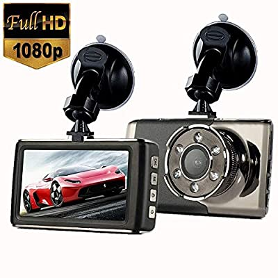 """SPRIS CHEZAI Car Dash Cam 1080P Full HD Car Camera for Cars 140° Wide Angle WDR with 3.0"""" LCD Display Night Vision Parking Monitor and G-Sensor from SPRIS"""