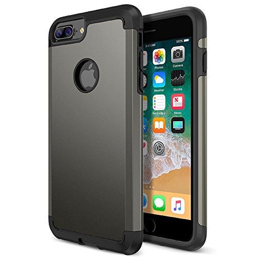 iPhone 8 Plus Case, Trianium Protanium Apple iPhone 8Plus Case (2017) with Heavy Duty Protection Shock Absorption Dual Layer TPU + Rigid Back Armor Anti-Scratch Reinforced Corner -Gunmetal