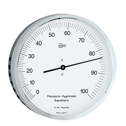BARIGO präzisions Hygrometer - Supratherm, Ø 100mm, Edelstahl, schwarz/silber