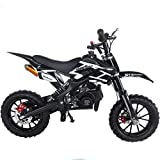 SYX MOTO Kids Mini Dirt Bike Gas Power 2-Stroke 50cc Motorcycle Holeshot Off Road Motorcycle Holeshot Pit Bike, Pull Start, Green from SYX MOTO