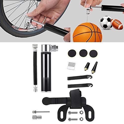 Lanyan-Fahrrad-Zubehör Manuelle tragbare Mini-Fahrrad-Aluminiumlegierung Pumpe + klebstofffreie Reifen Patch + Fisch-förmige Reifenheber Inflator Straße Mountainbike Hochdruck beweglicher Mini kleiner
