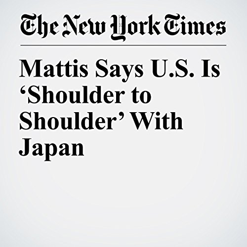 Mattis Says U.S. Is 'Shoulder to Shoulder' With Japan copertina