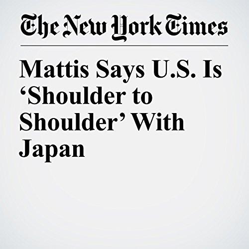 Mattis Says U.S. Is 'Shoulder to Shoulder' With Japan copertina