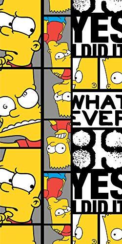 empireposter Die Simpsons - Bart - Baumwoll-Handtuch - 70x140 cm - Strandtuch Badetuch