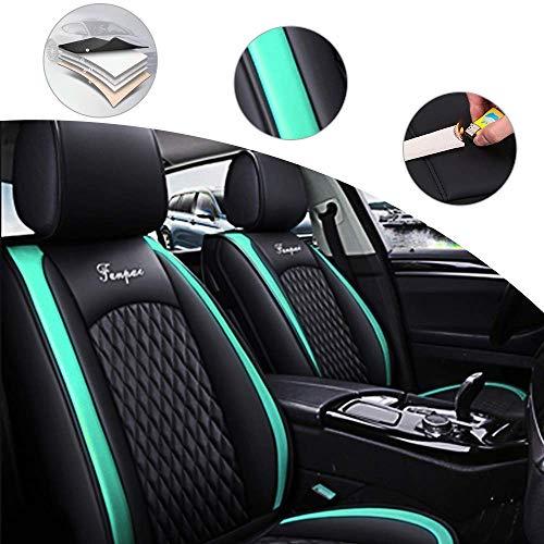 shanhua Asientos de Auto de para automóvil Cubiertas Juego Completo de 2908 Asientos Universal para Toyota Avalon Hybrid 2013-2018Verde Negro