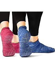 LA Active Grip Sokken - Yoga Pilates Barre Ballet Antislip Bedekt Zwangerschap met Gripstippen