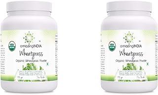 Amazing India USDA Certified Organic Wheatgrass Power 482 gm (17 oz) *Helps in The Formulation of Hemoglobin, Supports Hea...