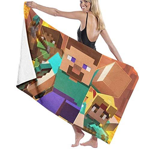 M-Inecraft - Toalla de playa rectangular de microfibra, secado rápido, portátil, toalla de viaje, ultra absorbente, deportes, viajes, natación, gimnasio, yoga, crucero y camping