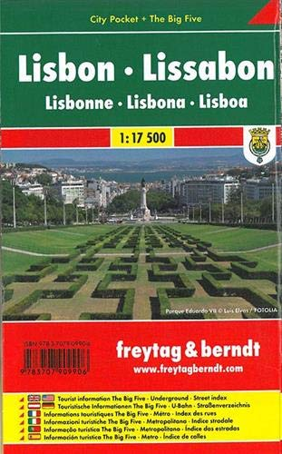 Lisboa, plano callejero de bolsillo plastificado. City Pocket. Escala 1:10.000. Freytag & Berndt.: Stadskaart 1:7 500