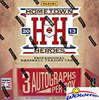 2013 Panini Hometown Heroes Baseball MASSIVE Factory Sealed HOBBY Box with THREE(3) AUTOGRAPHS & 288 Cards! Look for AUTOS of Cal Ripken, Manny Machado, Stanton, Mariano Rivera & Many More! WOWZZER!