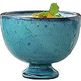 CESULIS Tazón de cerámica retro viejo moteado bebida taza yogur helado bandeja postre ensalada vajilla 10x8 cm cuenco fruta exhibición