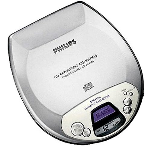 Philips AX-1001 tragbarer CD-Player silber