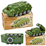 1) The Tank Convert Into Robot Itself And Then Into Tank Itself After You Switch It On Bump N Go Action, It Will Changes Its Course When It Met With An Obstacle 2) Built-in LED lights, multiple light sources, with sound effects to change the color of...