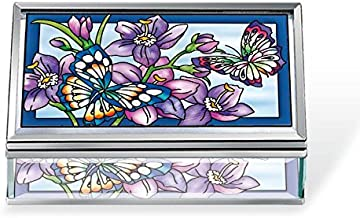 Amia Butterfly Beveled Glass Jewelry Box, 5