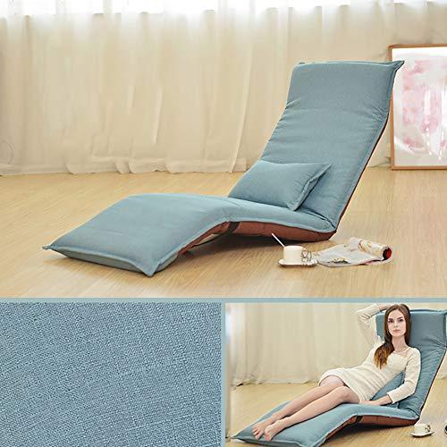 XIAMIMI Folding Faule Sofa Tatami-Gewebe-Sofa-Bett Innen Lounge Chair Bay Fenster Wohnzimmer Schlafsofa Büro Rest Bed Chair