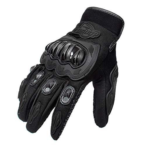 Carrfan Hombres Guantes de Motocicleta Pantalla Táctil Dedo Completo Moto Carreras Ciclismo Motocross Montaña Respirable Blanco M/L/XL