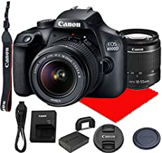 Canon EOS 4000D DSLR Camera w/Canon EF-S 18-55mm F/3.5-5.6 III Zoom Lens